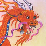 'the lace dragon' from stories of dragons published by usborne