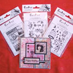 Swirls and birdcage stamp packs from crafty individuals