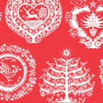 'lapland' red printed christmas tissue paper for flower city tissue