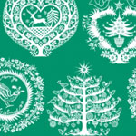 'lapland' green printed christmas tissue paper for flower city tissue