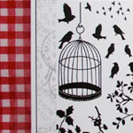 Stamp packs using my swirls and bird imagery from 'crafty individuals'