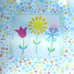 'flower trio' giftbags in cub size and gem size for flower city tissue